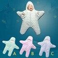80*84 см Новорожденный Ребенок Пеленание Зима Теплая Морская Звезда Спальный Мешок Chevron Детское Одеяло Коляска Милые Sleepsacks