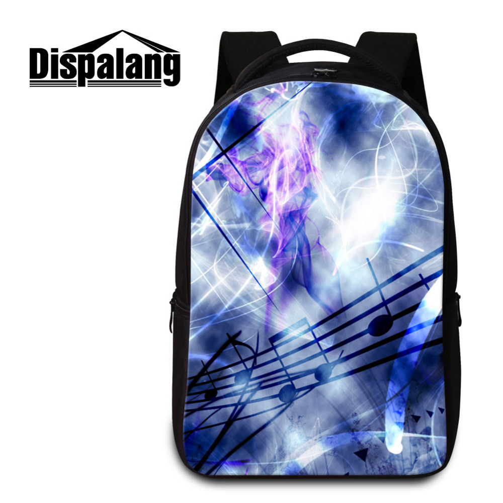 Dispalang Laptop Backpack Sheet Music Print Good Quality Unisex School Bags For Teenagers Large Travel Bag School Backpacks dispalang designer colorful backpack for women laptop backpacks girls school bags for teenagers summer travel bag mochilas mujer