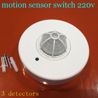 New Pir Motion Sensor Switch Sensor Switch Led Motion 3 Detector Switch Motion Sensor 360 Degree