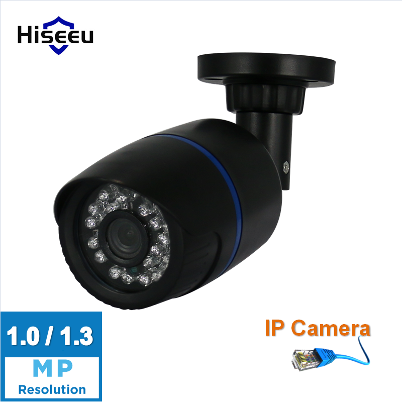 Hiseeu HD IP Camera Surveillance Camera 1.0MP/1.3MP 720P/960P Outdoor mini bullet IP Camera day night for CCTV NVR DVR HBD11 wistino cctv camera metal housing outdoor use waterproof bullet casing for ip camera hot sale white color cover case