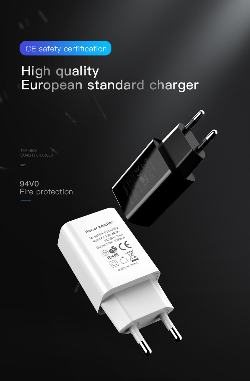 !ACCEZZ USB Charger 5V 1A Adapter For iphone 7 8 XS EU Plug Mobile Phone Wall Travel Charger Universal For Samsung S8 S9 Xiaomi (1)
