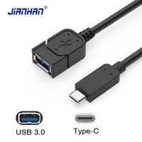JIANHAN Typ C zu USB 3.0 OTG Adapter USB3.0 Typ-C Daten Kabel Stecker USB C Kabel für Huawei P9 xiaomi 4C 5 Samsung S8 Weibliche