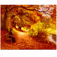 MaHuaf X393 Max Size 40x50cm Frameless DIY Oil Painting By Numbers DIY Digital Oil Painting On
