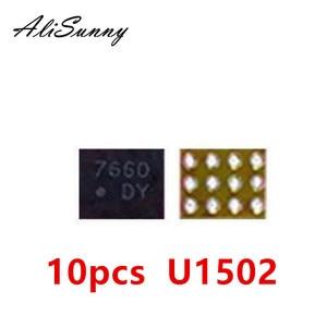 Image 1 - AliSunny retroiluminación ic U1502 para iPhone 6 Plus, Control de luz trasera, Chip de 12 pines DY DZ U1580, piezas, 10 Uds.
