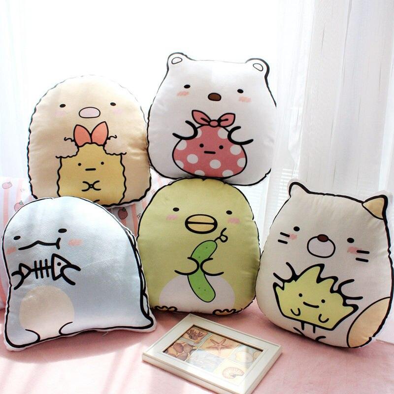 1 unid 35 cm lindo san-x esquina Bio almohada relleno felpa animación japonesa Sumikko Gurashi cojín almohada decoración niños juguete