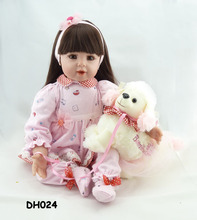 reborn doll NPK 20 'simulation baby dolls, luxury accessories, gifts, suit DH024 the doll toys for children bebe reborn