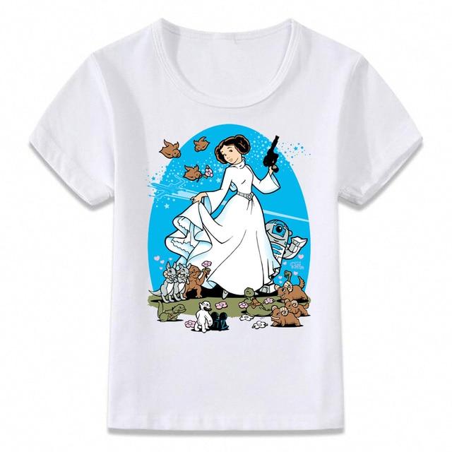 4c0ce4ed Kids Clothes T Shirt Princess Leia Ink Art T-shirt for Boys and Girls  Toddler Shirts Tee