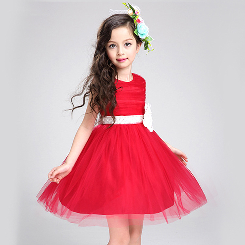 Подробнее о Baby Girl evening party Dress infant 2017 Summer Princess Dress Children Sleeveless Flower Red Kids Dresses For Girls 2-12 Years 2016 baby girl christmas costumes flower collar princess dress evening party kids dresses for girls children clothes age 2 10
