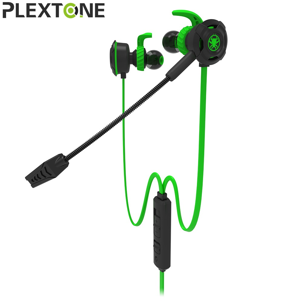 Plextone NEW PC Gaming Headset With Microphone In Ear Stereo Bass Noise Cancelling Earphone With Mic For Phone Computer Notebook new guitar shape r9030 bluetooth stereo earphone in ear long standby headset headphone with microphone earbuds for smartphones