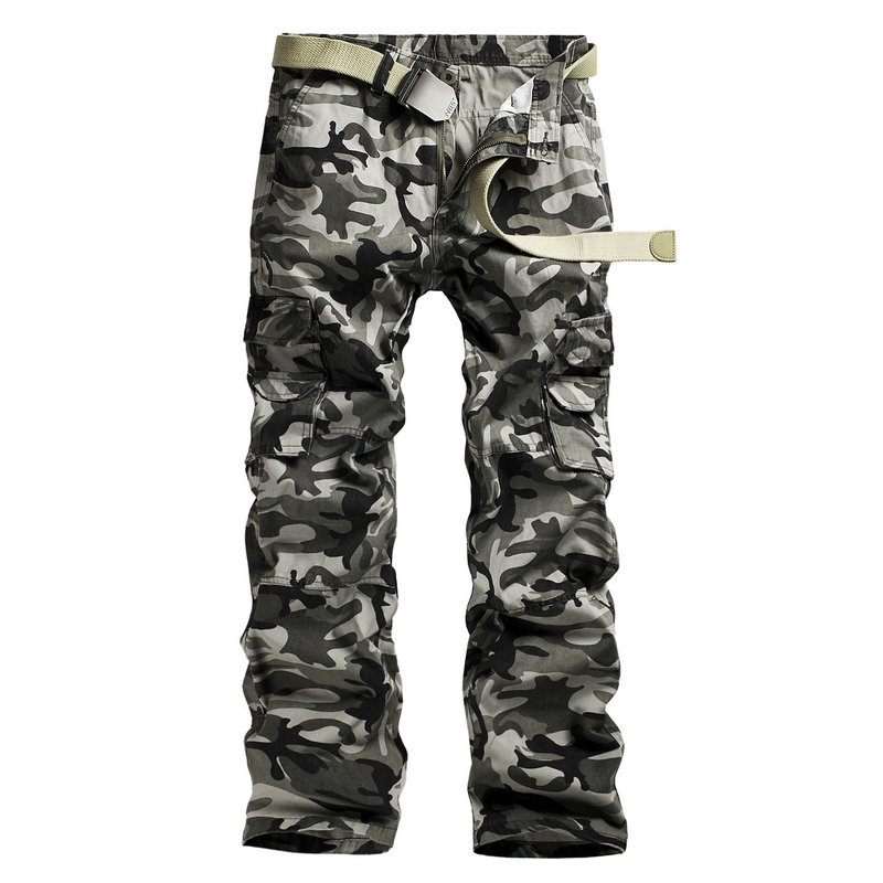 2016 Men's Pants Tactical Camouflage Pants Military Pants Khaki Outwear Cargo Army Green Male Overalls Casual Trousers PA038