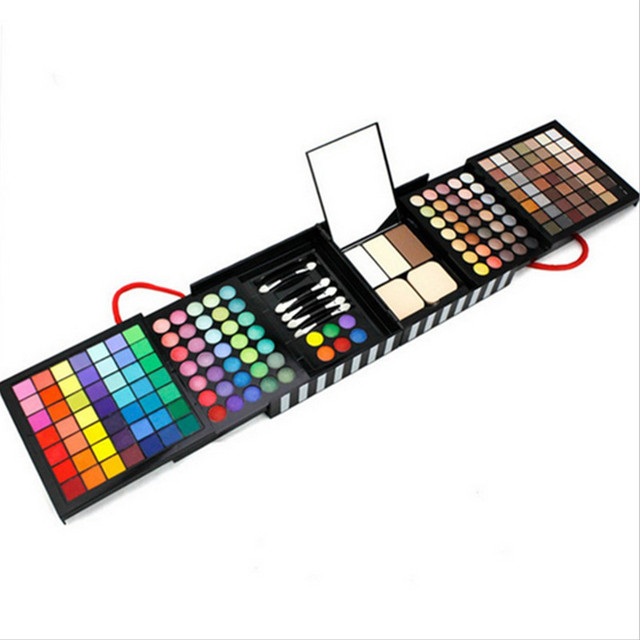 Professional 177 Color Collapsible Eye Shadow Set Waterproof Makeup Cosmetic With Mirror Long Lasting Multifunctional Cosmetic