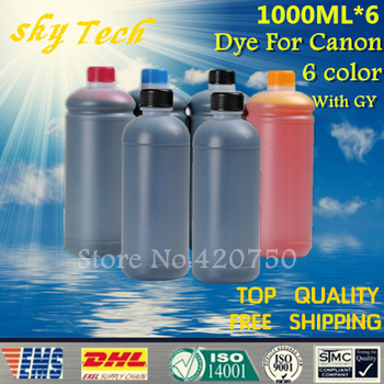 1000ML*6   Specialized Dye Refill Ink For Canon Cartridge , Quality Ink For canon desktop printer .