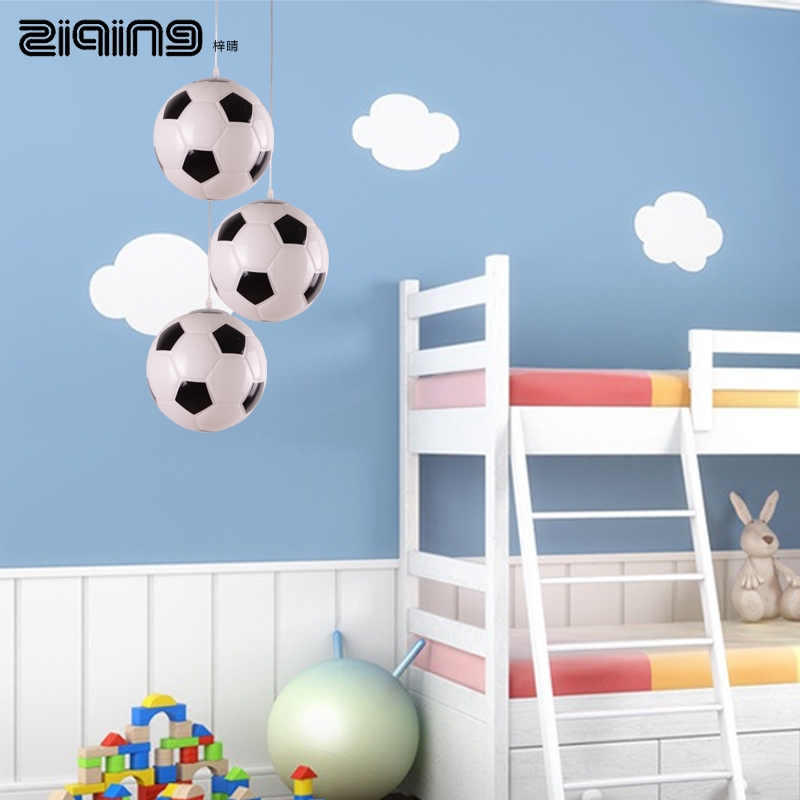 Creative Child Football Chandelier Modern Minimalist Bedroom Lamp Study Light Fixtures