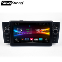 SilverStrong Car Multimedia player GPS Android Car Radio 1 Din DVD For Fiat/Grande/Punto/Linea 2007 2012 Radio FM steering