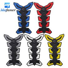 Mofaner Motorcycle 3D Rubber Sticker Tank Pad Protector Gas Oil Fuel Decal StickeFor Motor ATV Vehicles