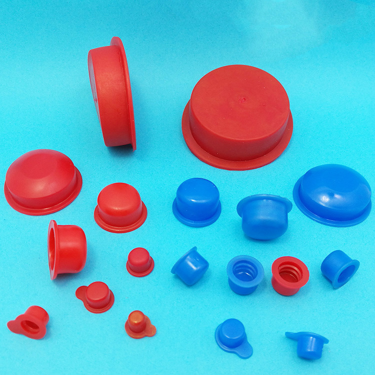 PVC rubber stopper rubber plug oil cylinder dust plug plug silicone rubber sheath internal thread hole plug brick red rubber stopper for banks with 1 hole