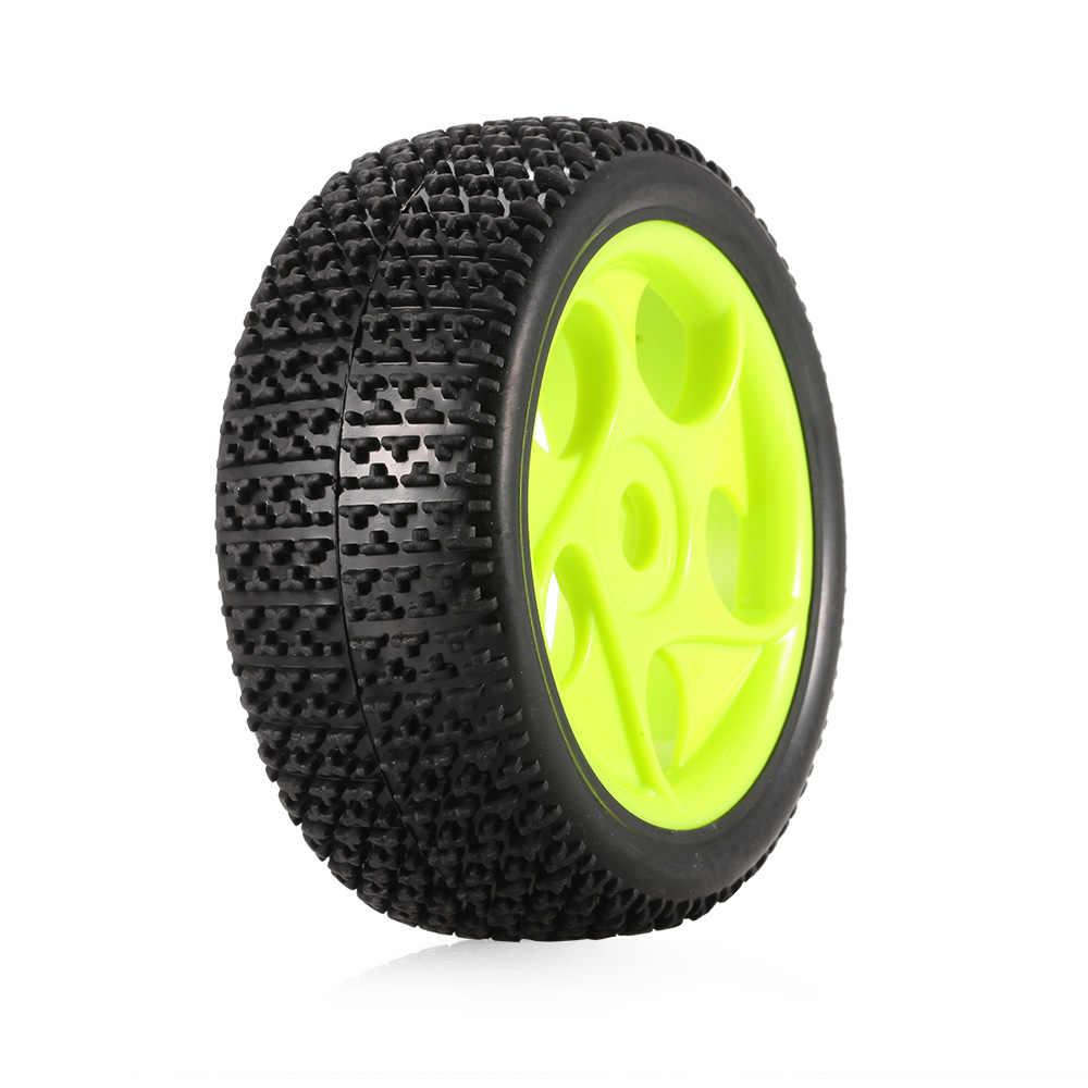 4 piezas 112mm neumáticos de goma 17mm cubo Borde de rueda hexagonal para 1/8 RC orugas Buggy fuera de carretera coche camión