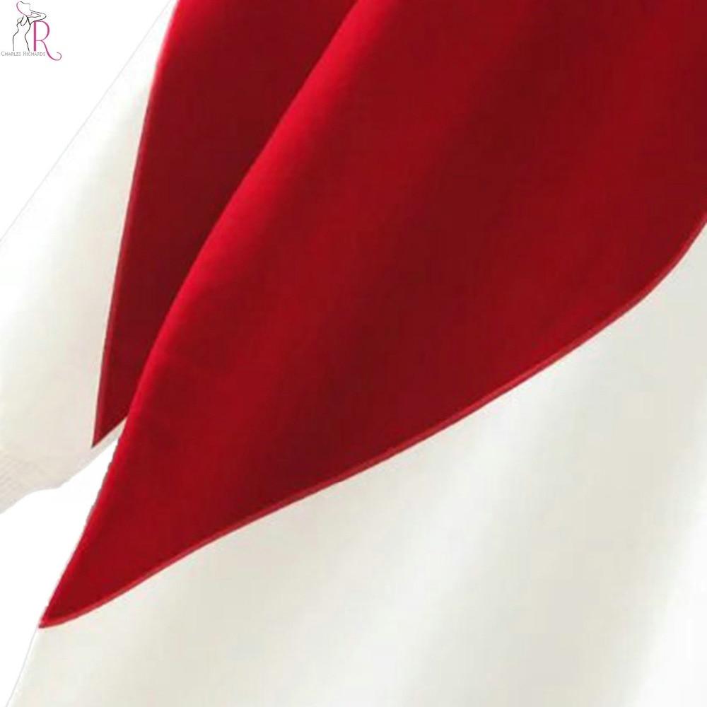 2 barve srce črka tisk z dolgimi rokavi pulover s kapuco z dolgimi - Ženska oblačila - Fotografija 3