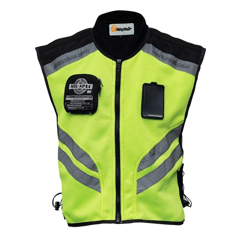 Cheerleading Uniformen MüHsam 2016 Motorradfahren Kleidung Refective Sicherheitsweste Fit Männer Und Frauen Grün Größe M-xxxl.