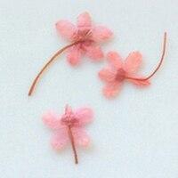 עיתונות חבצלות מים ורוד פרחים מיובשים פרחים לקישוט DIY 1 מארז/100 יחידות משלוח חינם