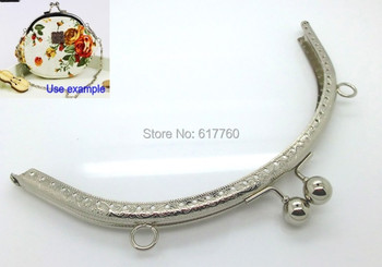 Free Shipping-2PCS Metal Frame Kiss Clasp For Purse Bag Silver Tone 19.8cm x 10cm(7 6/8