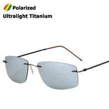 JackJad без оправы квадратный Стиль Титан Поляризованные солнцезащитные очки можно сложить Сверхлегкий вождения бренд дизайн солнцезащитные очки Oculos De Sol