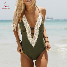 2018 aliexpress hot style bikini sexy American and European foreign trade one-piece swimsuit split ladies swimsuit