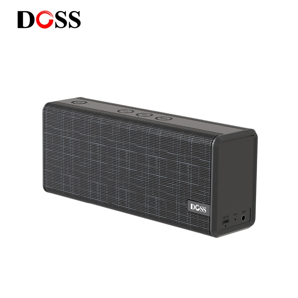 DOSS Portable Wireless Bluetooth Speaker 12W Stereo with Bass and Built-in Mic Hands free For iPhone Xiaomi Support AUX USB цена
