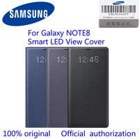 100% Oryginalny Dziennik Samsung Galaxy Note8 LED Zobacz Przypadku Portfel N950F EF-NN950P n8 led widok pokrywa Czarny/Deep Blue/orchidei Szary