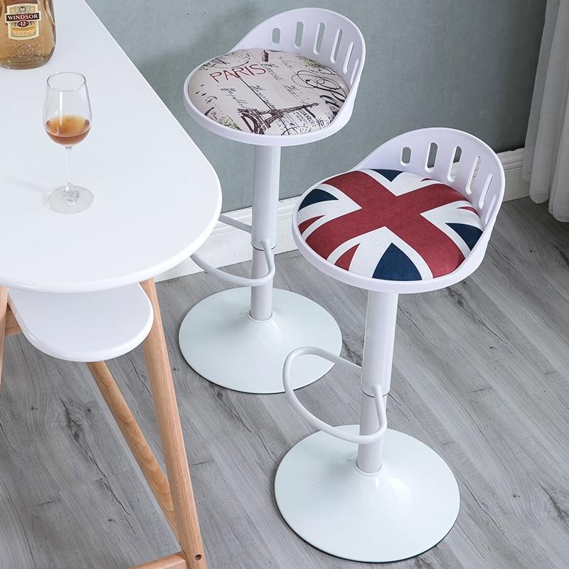 Light Luxury Bar Chair Lift Chair Modern Minimalist Rotating Bar Chair High Footstool Cashier Chair Back Stool Household