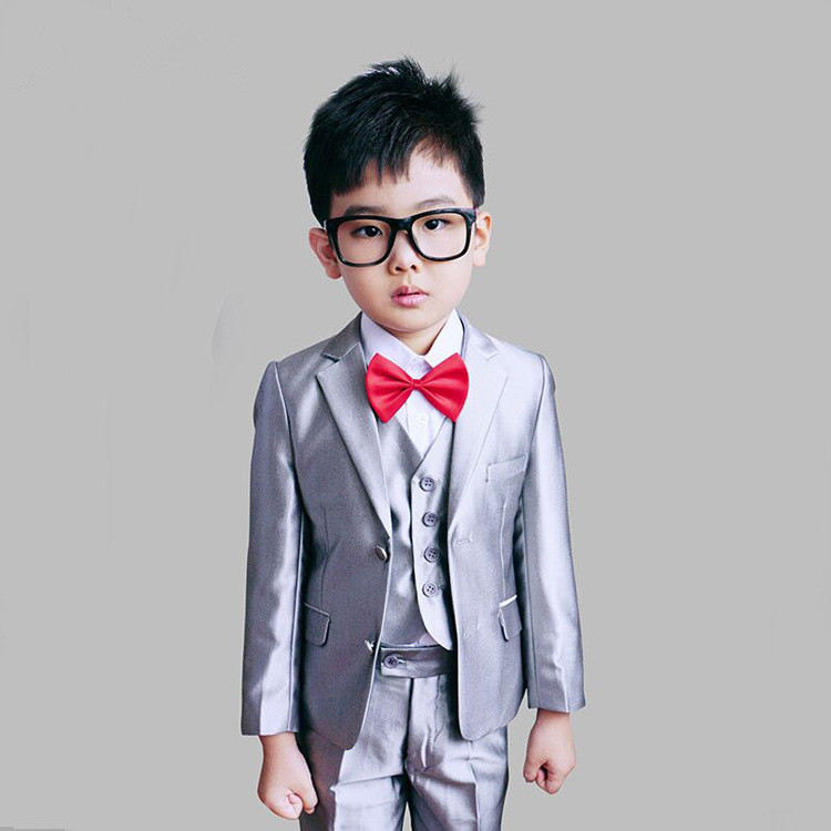England Style Man Child White Boy Suit Tuxedos Boys Formal Suits Blazer+Pants+Vest 4-12Y Boys Formal Suits For Weddings KS-1620 new fashionable men s suits new dark green men suits formal business tuxedos men wedding suit jacket pants custom