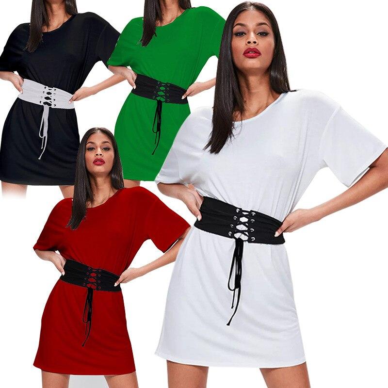 2018 summer fashion loose explosion models selling States women's dress women loose bat sleeve bandage dress
