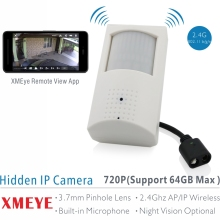 XMEYE 720P PIR Style Indoor Onvif WiFi IP Camera Built-in Audio and TF Card Slot, IR Version Optional with 48pcs 940nm IR LED