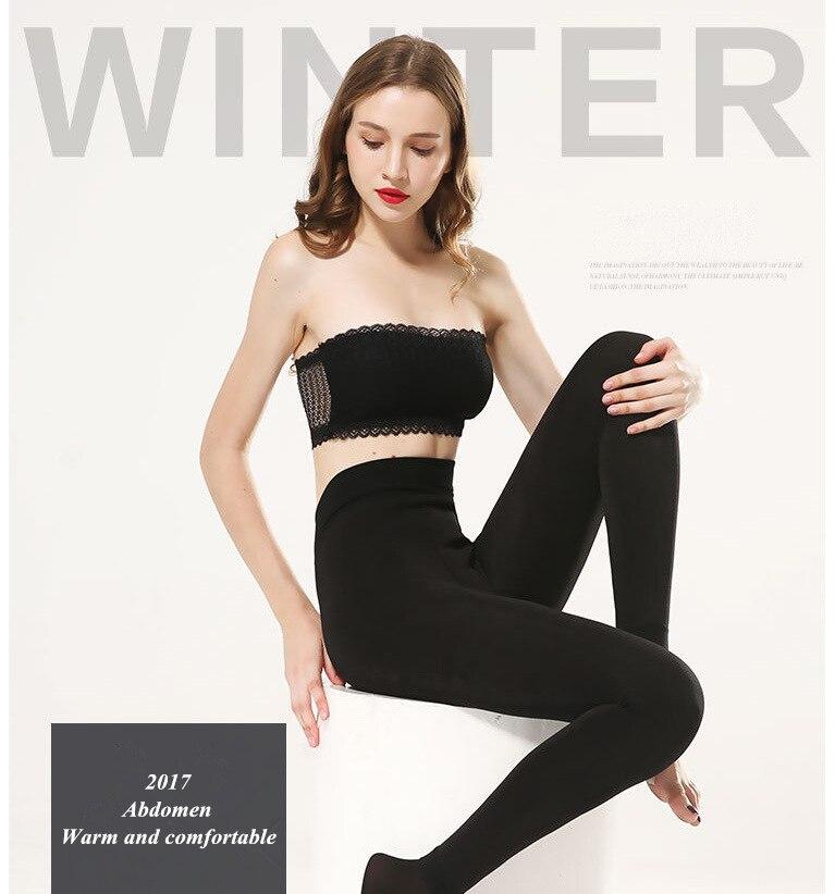 YRRETY Winter Warm Velvet Thick Skinny Pants Women Plus Size High Waist Leggings Trousers Female Clothing Pencil Pants Femme 23