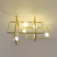 Цвета: черный, золотистый, Медь светодиодный G9 MONDRIAN стеклянная потолочная лампа venicem светильник светодиодный techo iluminaria потолочный светильни