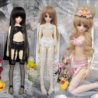 NEW Big girl 1/3 1/4 BJD SD Clothes Black/Pink/White Sexy Lace Underwear & Culottes & Garter Set