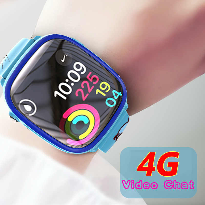 4G GPS+LBS+Wifi Positioning Tracker Swimming Call Remote Monitoring Video Chat Camera Phone Watch Smartwatch Kids Child