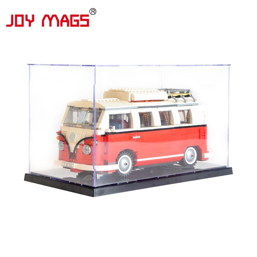 JOIE MAGS Acrylique Vitrine Boîte Auto-Assemblage Boîte 31x19x17 cm (Ne Pas Inclure Modèle) pour Volkswagen T1 Camping-Car 10220