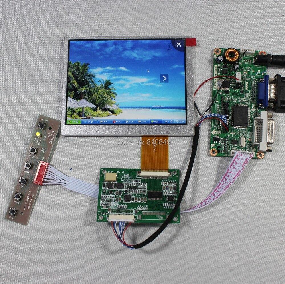 DVI+VGA LCD controller board RT2261+5.6inch AT056TN52 V3 640*480 Lcd Panel hdmi dvi vga audio lcd control board 5 6inch at056tn52 640 480 lcd panel