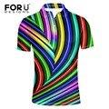 Forudesigns camisa de polo para los hombres 2017 ropa de la marca de contraste de color patchwork rejilla de rayas polo homme aptitud camisa polo muchacho adolescente