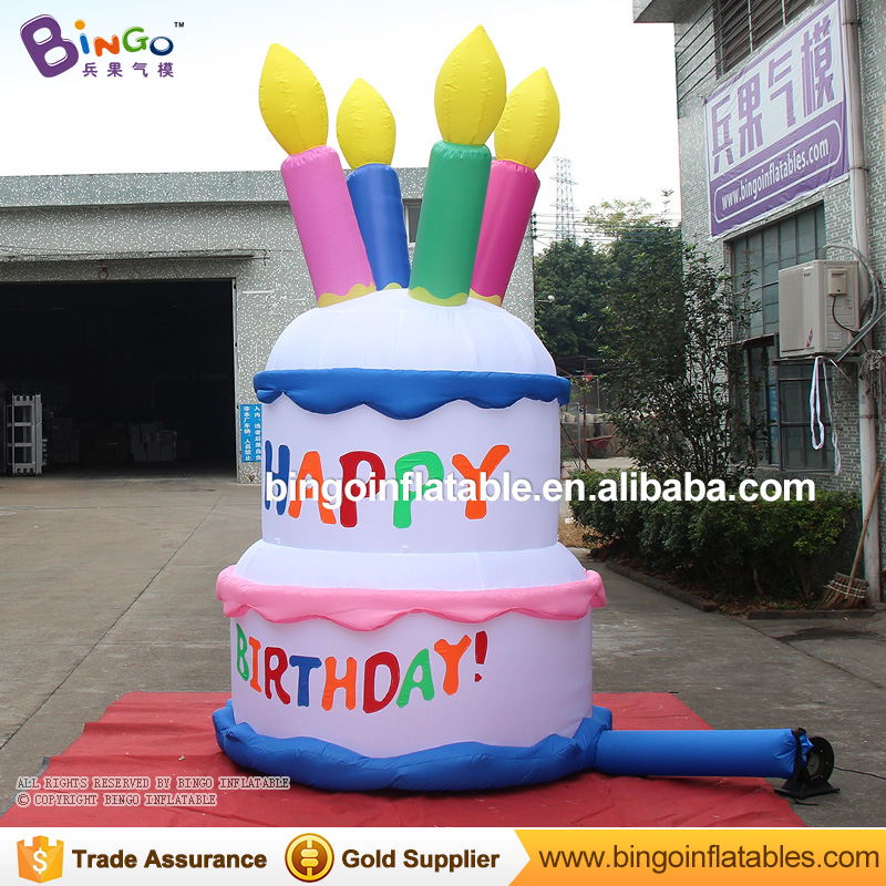 Free Shipping 3m High Inflatable Birthday Cake Model For