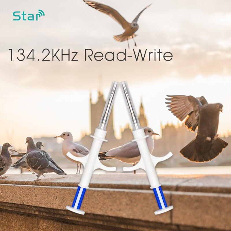 (80pcs/lot) 2.12*12mm RFID Animal Chip Dog Pet Syringe EM4305 ISO11784/5 FDX-B 134.2khz Animal Microchip Injector Free Shipping