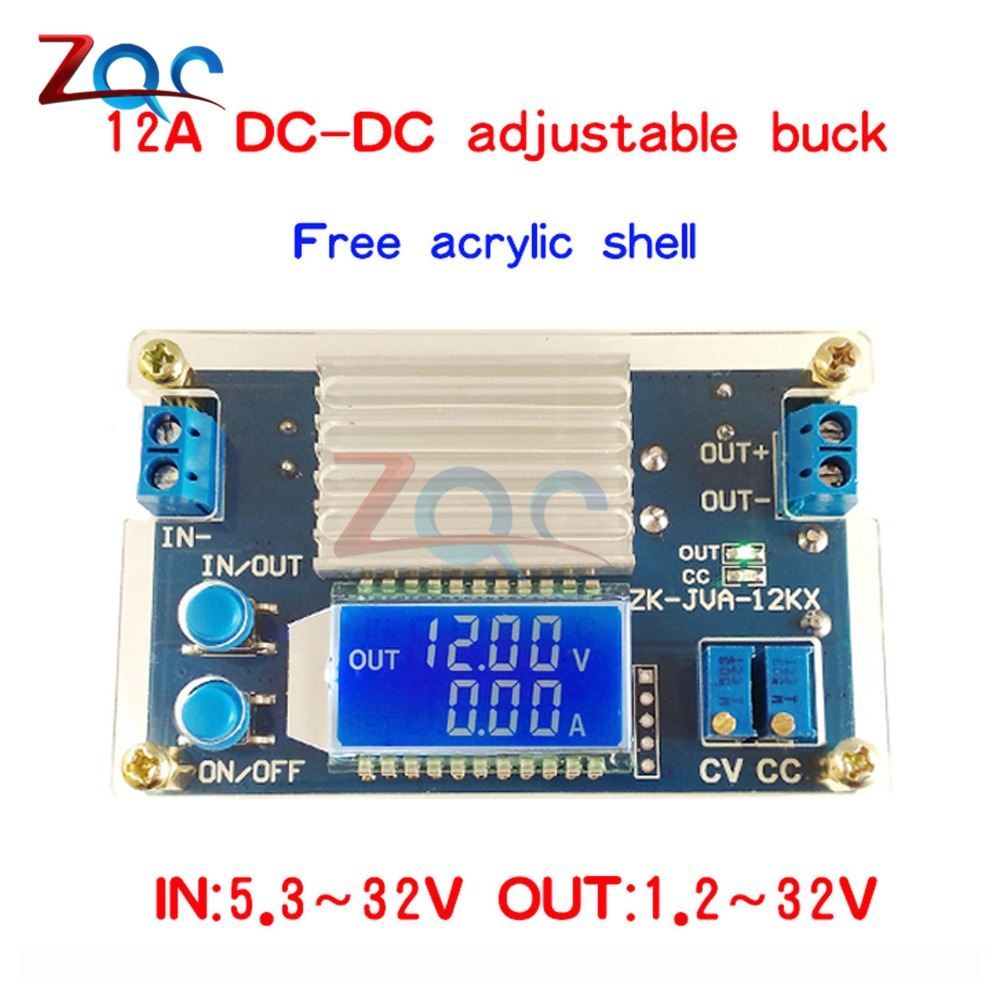 DC 0-32V 12A Constant Voltage Current LCD digital Voltage Current Display Adjustable Buck Step Down Power Supply Module Board 10a dc power adjustable step down dc constant voltage constant current power supply module lcd screen