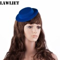 A051 Blue Mini Tilt Top Hat Millinery Fascinator Base Craft DIAMETER 17CM High 3cm EVA