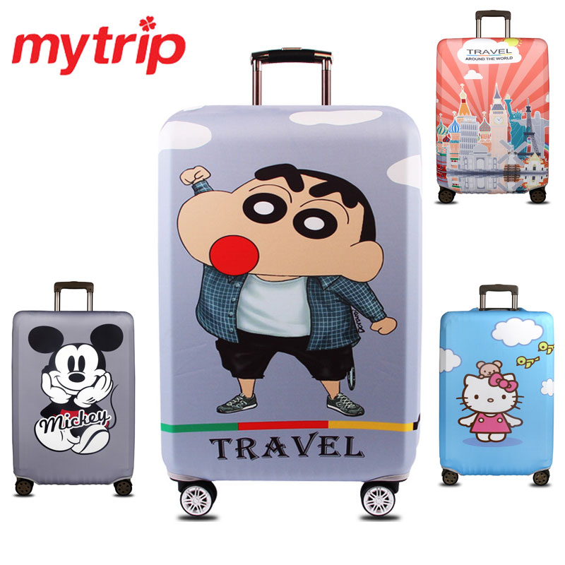 Cute Cartoon Thick Elastic Travel Luggage Protective Covers For 18 32 Inch Trolley Case Suitcase Cover