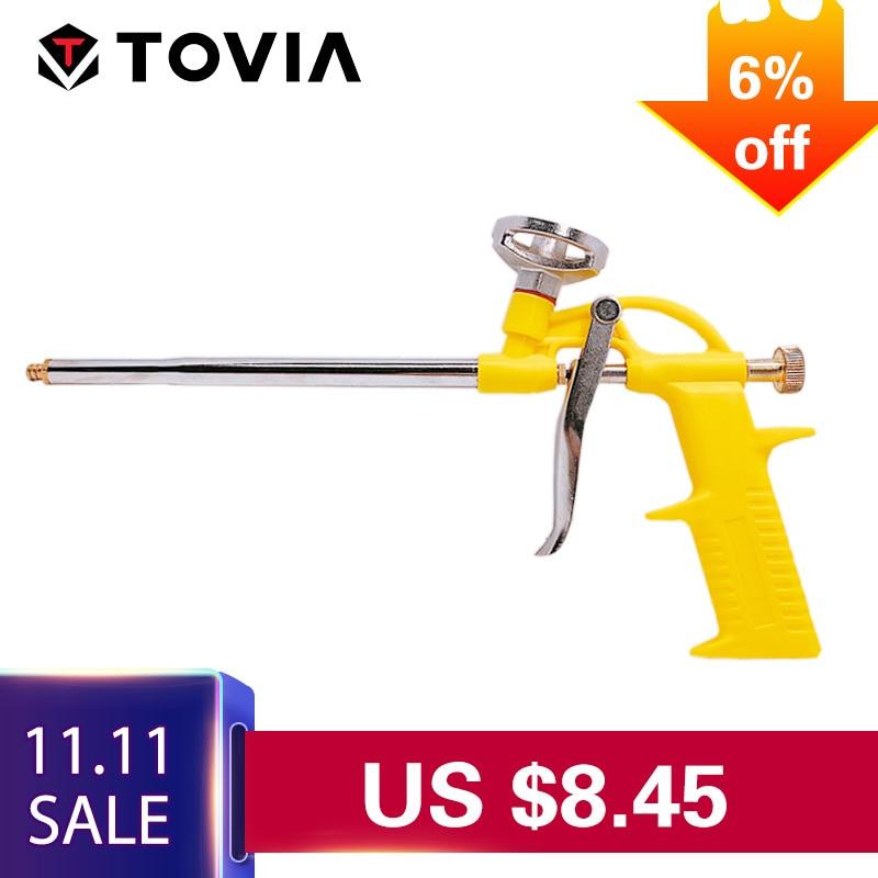 TOVIA Free Shipping Foam Expanding Spray Gun Sealant Dispensing PU Insulating Applicator Tool Spray Foam Gun цены онлайн