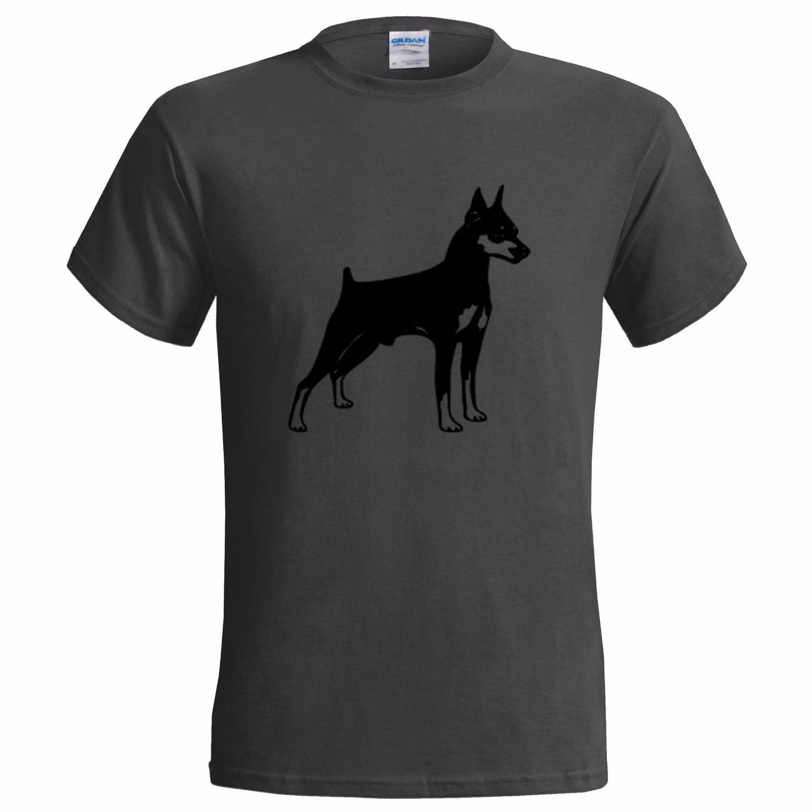 DOBERMAN VECTOR ART MENS T SHIRT DOG DOGS PRESENT GIFT CANINE PET PINSCHER ...