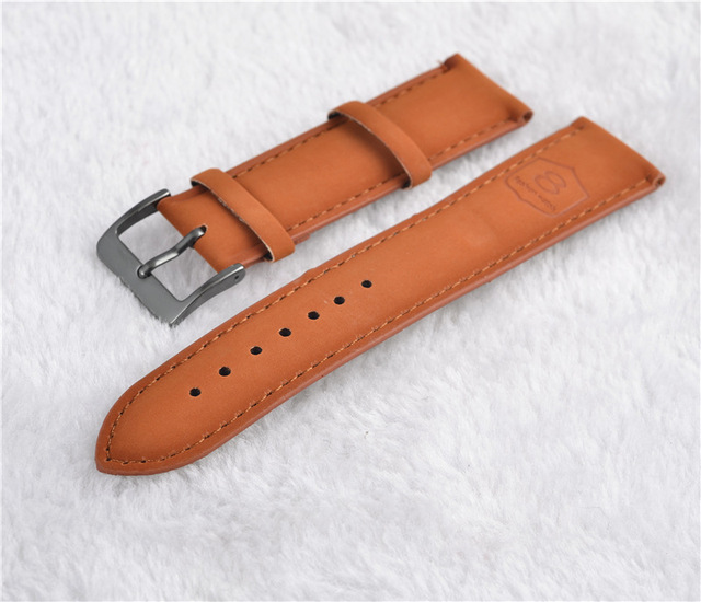 2019 New arrived 22mm Leather watchband black and brown band fashion popular pri