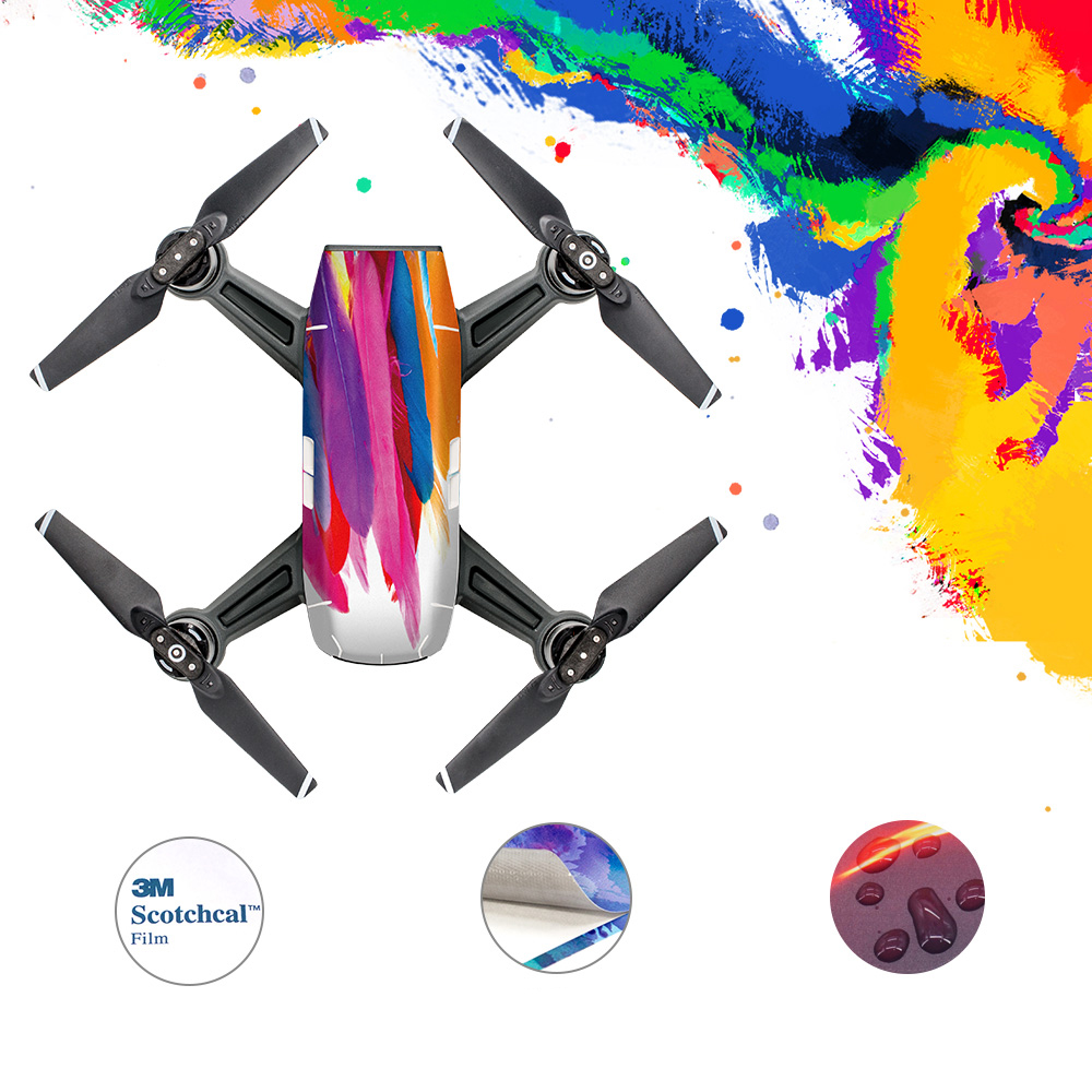 New Arrival Spark Body Cover Stickers Waterproof 3M Sticker for FPV RC Drone Spark Protector Skin Accessories Spare Parts pgy fpv skin for dji inspire1 5d carbon fiber waterproof uv decals stickers set quadcopter drone rc parts accessories