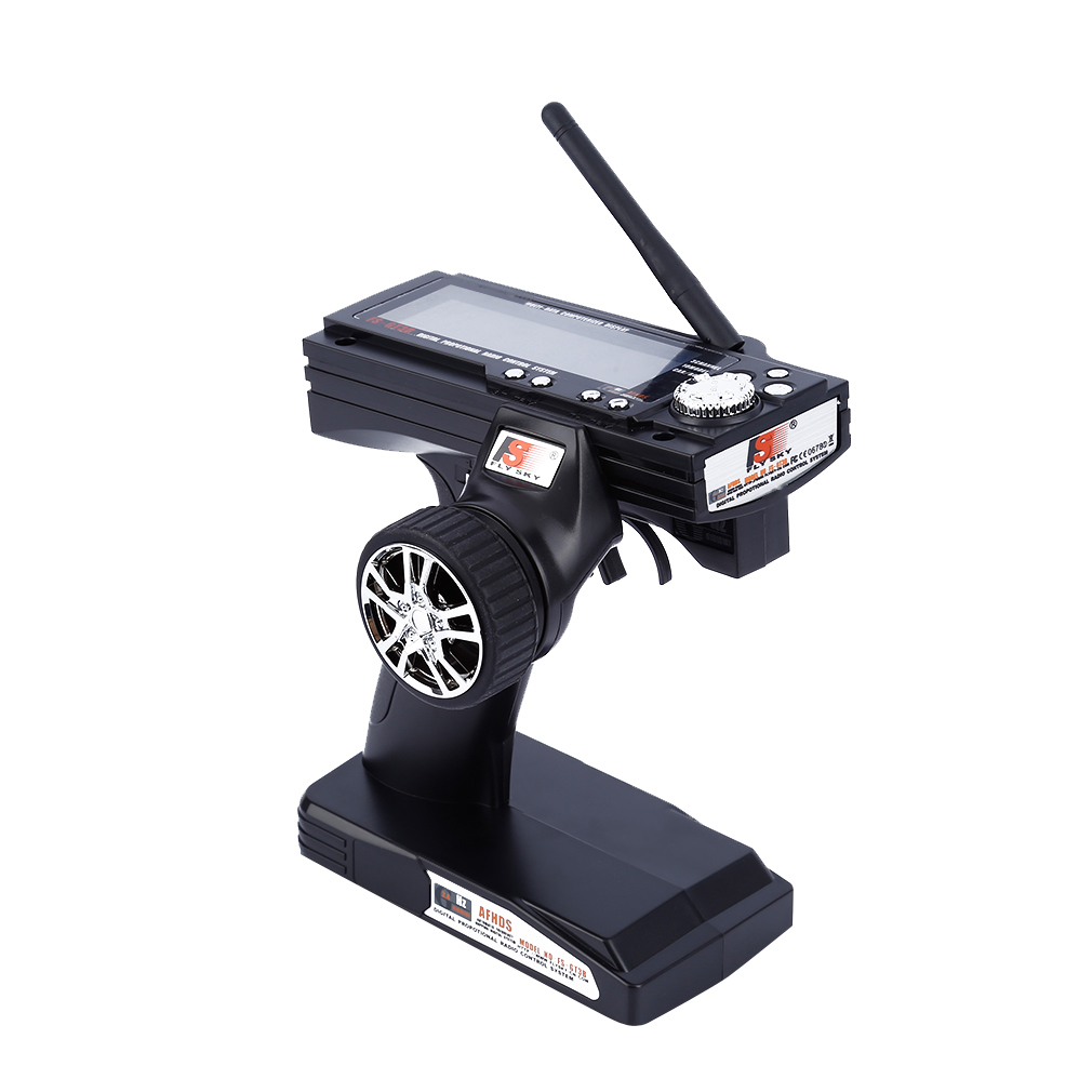 12V DC GFSK FS-GT3B 500Hz 2.4G Transmitter Receiver Combo FLY SKY 3ch LED Display for RC Car Boat Controller F01815/F01719 Black f01815 flysky fs gt3b fs gt3b 2 4g 3ch gun controller transmitter no receiver for rc car boat